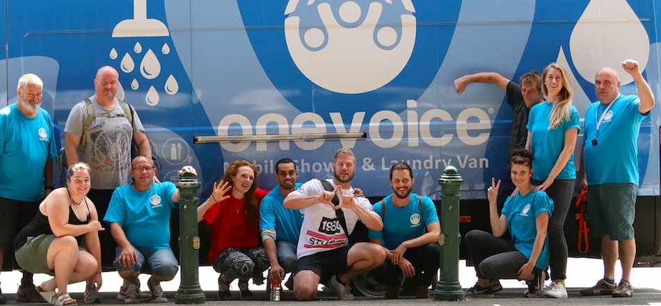 One Voice shower and laundry van