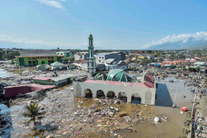 An earthquake triggered a tsunami that devastated Sulawesi in September 2018.